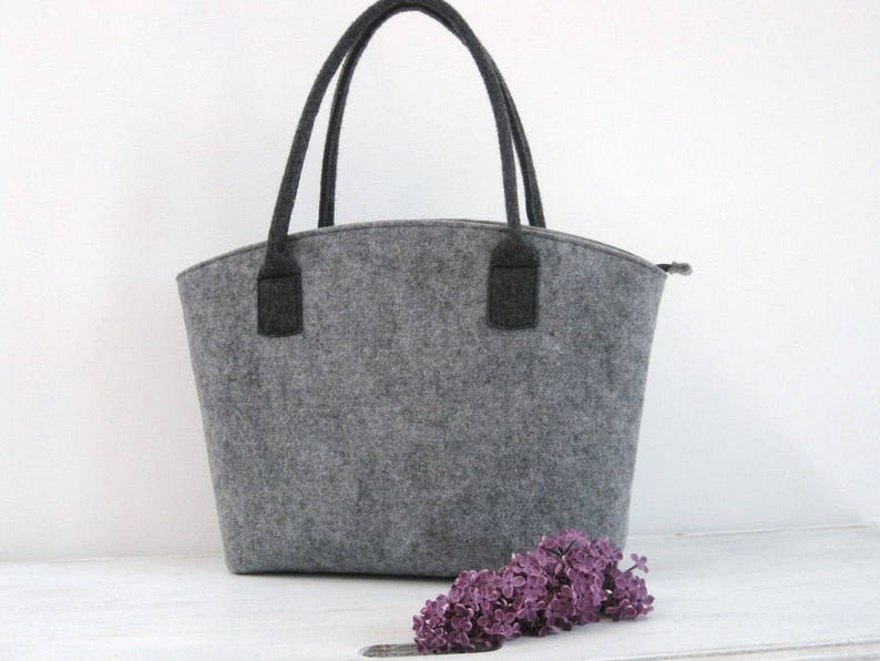 Felt bag Felt tote bag Elegant and Casual Felt Bag Tote image 0