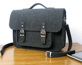 LAPTOP BAG Mens Messenger Bag  Mens Felt bag  satchel bag   Messenger bag for men  MacBook Pro 15inch  Asus HP Lenovo  15-inch laptop bag