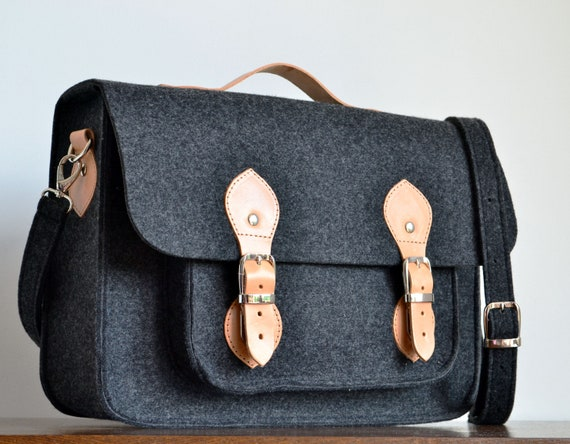 86d0c56cb931 SALE! 15-inch laptop bag, messenger bag, 15-inch Macbook case, crossbody  bag, felt bag, office bag, felt satchel, Macbook Pro 15 in case