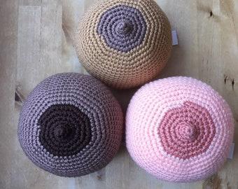 Crochet breast. Boob. Breastfeeding demonstration tool. Breastfeeding teaching aid.