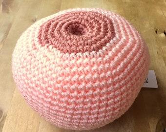 Crochet Breast. Boob. Inverted Nipple. Breastfeeding demonstration tool. Breastfeeding teaching aid. Doula tools. Midwifery student.