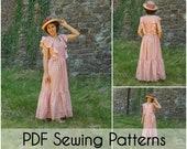 Pink Champagne PDF Sewing Patterns 6-14 sizes