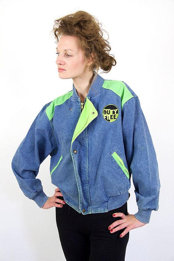 Veste en Jean Vintage, années 80 veste en jean, bl