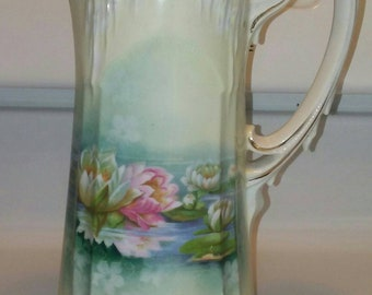 Water Lilly Vintage Pitcher
