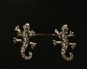 Lizard gecko stud earrings