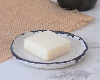 Soap dish, handmade ceramic soap dish, white soap dish, bathroom accessories, handmade soap holder, handmade gift, housewarming gift