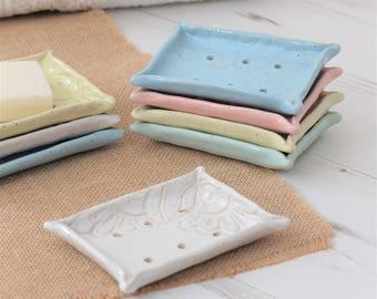 Soap dish, handmade ceramic soap dish, bathroom accessory, handmade soap holder, pottery soap dish, handmade gift, pottery dish