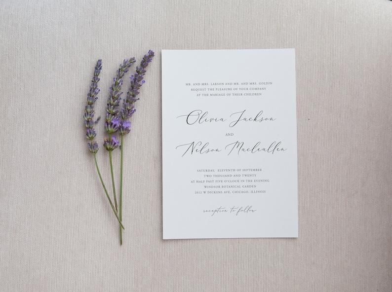 Elegant Wedding Invitation Template Printable Editable Formal Wedding Invitation Template Classic Wedding invitation Download TEMPLETT