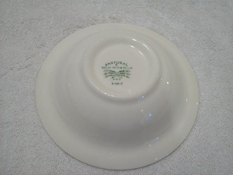 Vintage Taylor Smith /& Taylor Green Transferware Pastoral Pattern Bowl 6 14