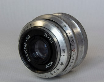 Industar 50 3.5/50 M39 photo Lens USSR for FED Zorki Leica #6867697