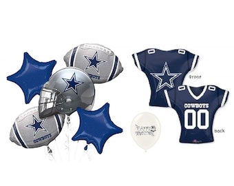 NFC East Dallas Cowboys 7 piece Balloon Bouquet Bundle 366d02ca4