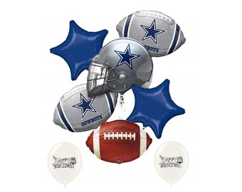 Dallas Cowboys NFL Football NFC East Party Balloon Bouquet Bundle