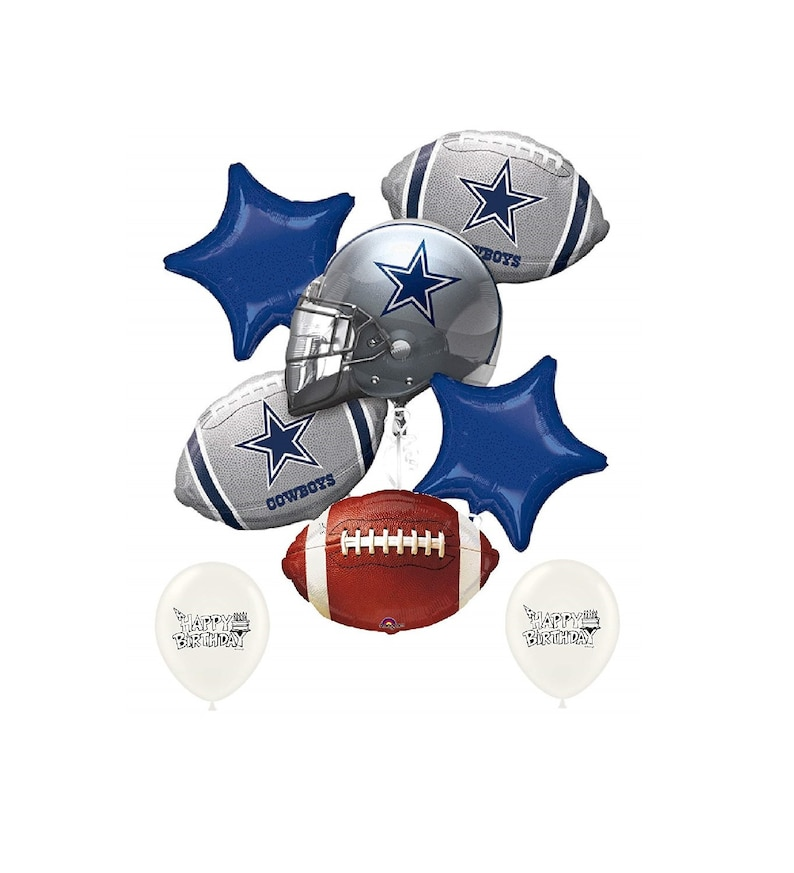 Dallas Cowboys NFL Football NFC East Party Balloon Bouquet