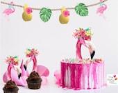 Flamingo printable Cake T...