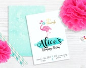 let's Flamingle Custom Party Invitation / Digital download