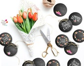 Chalkboard printable toppers-tags/ Instant Download