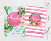Tropical Flamingo Custom Party Invitation / INSTANT DOWNLOAD