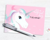 Unicorn Invitation/ INSTANT DOWNLOAD