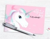 Unicorn Invitation/ INSTA...