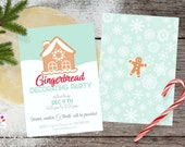 Gingerbread Party Invitation, Gingerbread Birthday invite / PRINTABLE