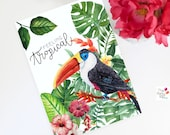 Feeling Tropical Table sign/Wall Deco sign , Party decor, tropical party  decor, tropical party , toucan party, instant download, PRINTABLE