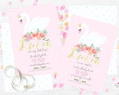 Swan & flowers Pink Party...