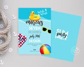 Beach Party Invitation, Pool party Invitation, Summer party invitation/digital print