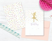 Ballerina & Confetti! FILL IN Party Invitation + Save the date / Instant Download