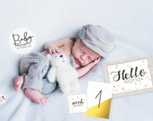 Printable Baby Milestone Cards/ Instant Download