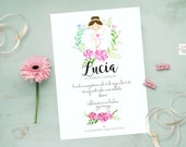 Ballerina Custom Party Invite
