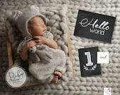 Chalkboard printable Baby Milestone Cards/Instant Download
