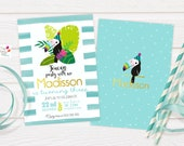 Toucan Customized Party Invitation / DIGITAL PRODUCT