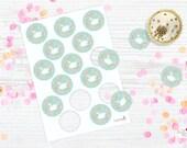 Swan & flower mint Set of toppers-tags/  swan, swan party, swan toppers, swan printable tags, party favor tags, cisne, Digital Print