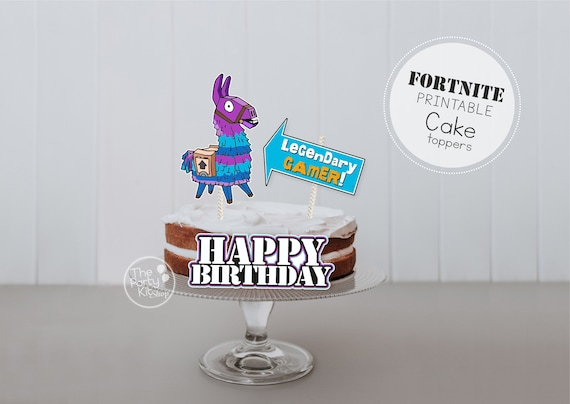Fortnite printable Cake & cupcake Topper/ INSTANT DOWNLOAD
