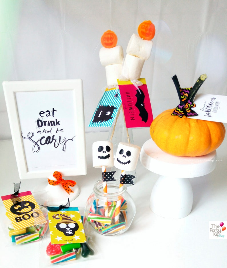 Eat drink & Be Scary Halloween printable sign/instant image 3
