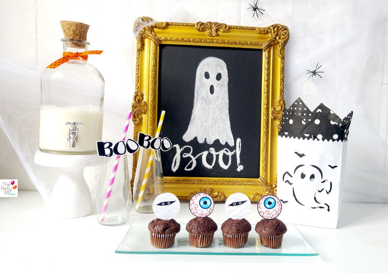 Halloween printable Toppers /  instant download image 0
