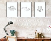 Motivational prints in B&W, inspirational wall art / instant download