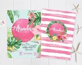 Tropical Flamingo Custom Party Invitation / INSTANT DOWNLOAD