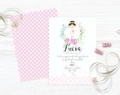 Ballerina Party Invitation/ digital print