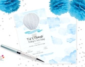 """fill in Party invitation """"Up and Away"""" / INSTANT DOWNLOAD"""