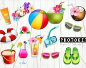 Summer party Photo booth props/ instant download