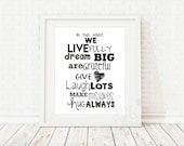Family Rules / Home Art P...