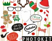 CHRISTMAS printable props / Photokit, photocall, printable, instant download, props, Photoprops