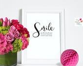 Smile Digital Print / instant download