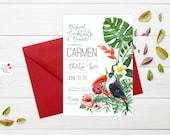 Tropical Custom Invitation / DIGITAL PRINTABLE
