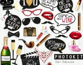 Photo props  GLAM HOLLYWOOD/  hollywood party props, party photo props, glam party / instant download