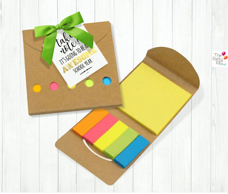 back to school gift tags Take Note / teachers gift tag back image 0