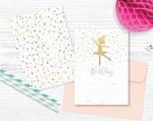 Ballerina & Confetti! FILL IN Party Invitation + Save the date / Instant Download