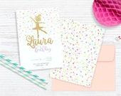 Ballerina Custom Party Invitation, Ballerina Save the date / printable invitation