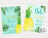 Party Like a Pineapple Invitation, Save the date/ DIGITAL